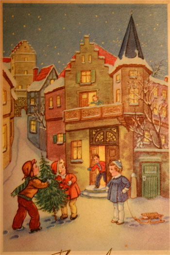 Une belle ancienne image de noel - Les plus belles cartes de noel ...